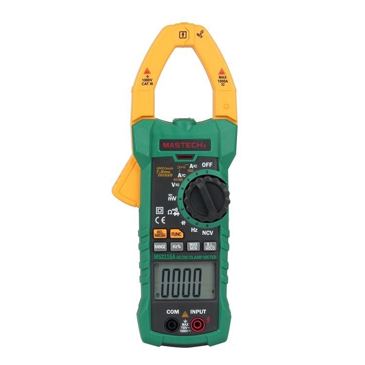 MASTECH MS2115A True RMS Digital DC/AC Clamp Meter Multimeter Hz Capacitance