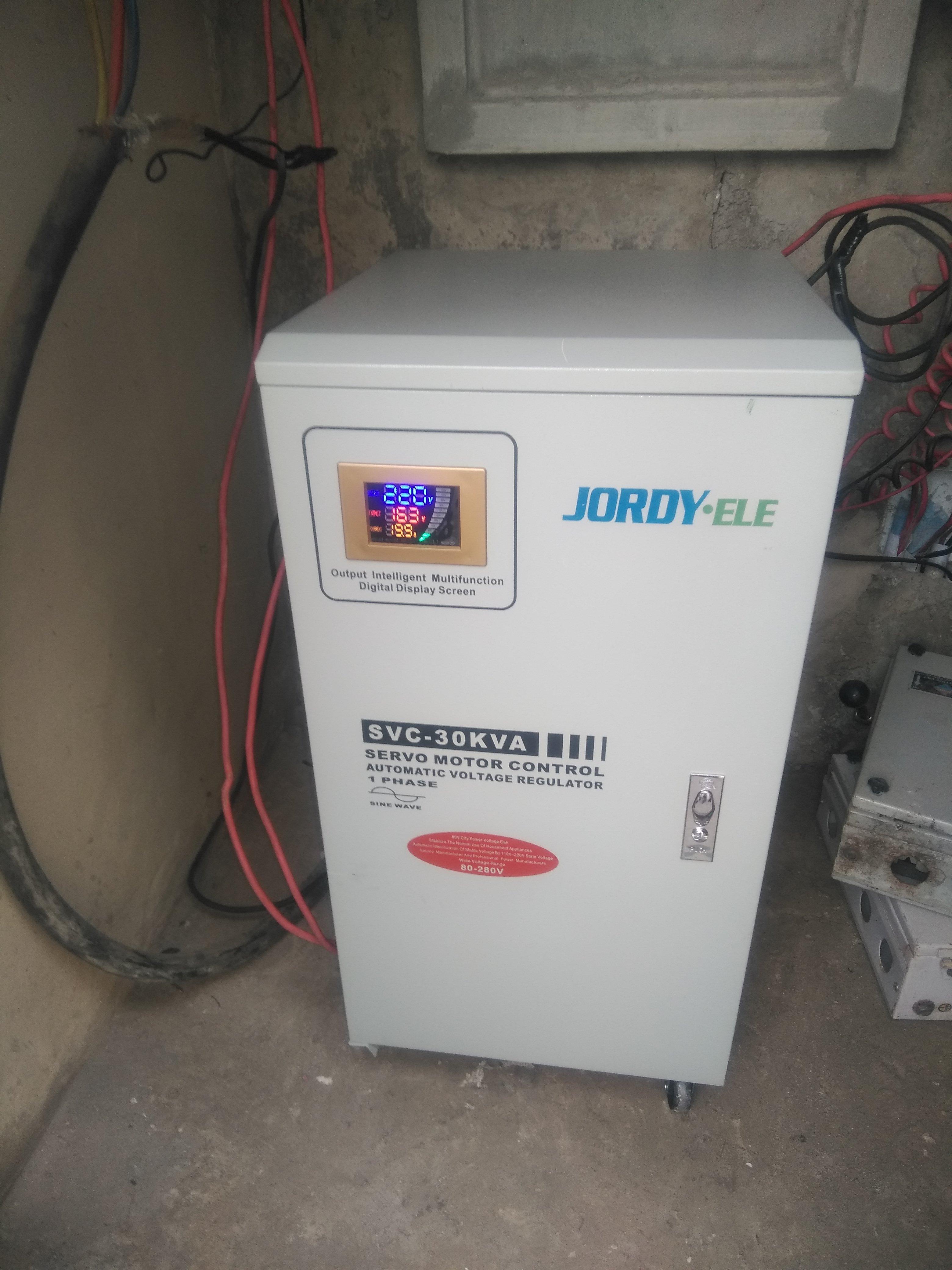 JORDY-ELE 30kVa Single Phase Servo Stab